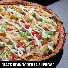 Black Bean Tortilla Supreme Pizza