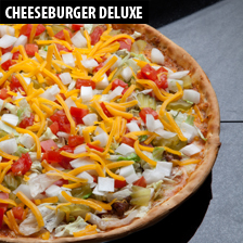 Cheeseburger Deluxe Pizza